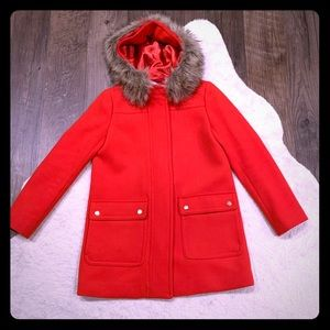 J Crew Vail Parka- Electric Red 2P